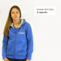 Sweat-shirt femme bicolore à capuche