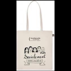 """Tote bag coton bio """"socialement engagé.e"""""""